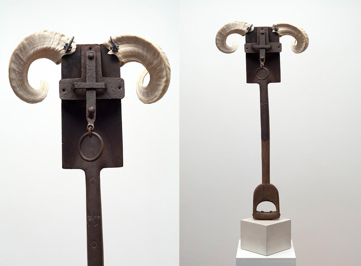 Aries - (Mixed Media) 117cm x 40cm x 27cm