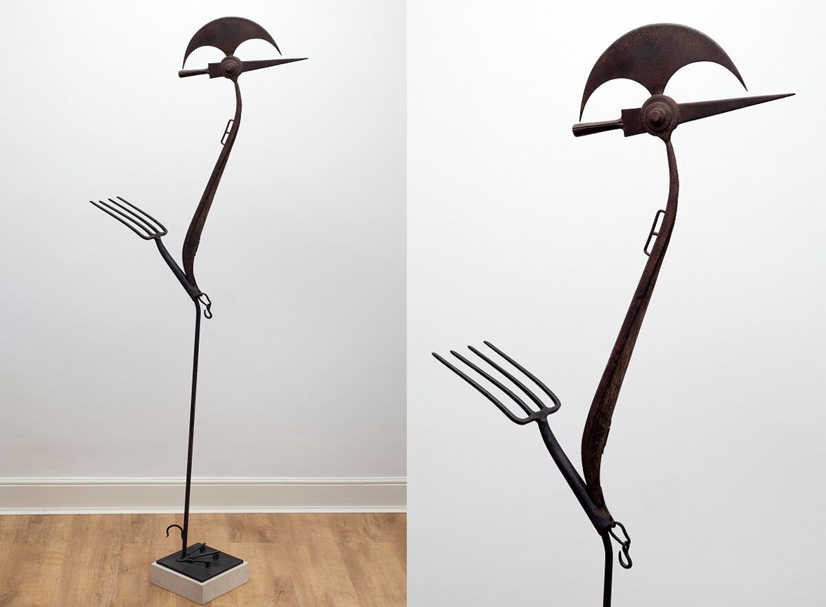 The Crane - (Mixed Media) 196cm x 80cm x 40cm