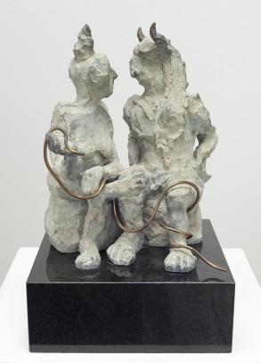 Ariadne and the Minotaur (Bronze) W20cm x H33cm x D20cm