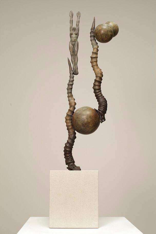 Ascent (Bronze) W20cm x H80cm x D15cm