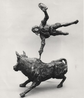 Bull of Fire (Bronze-Resin) 48cm x 39cm x 30cm