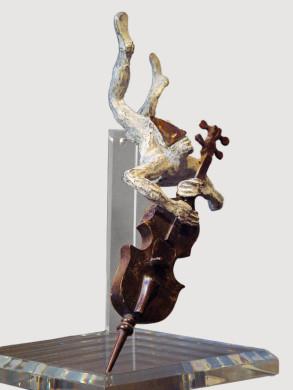 Cello Player (Bronze) W23cm x H35cm x D23cm copy