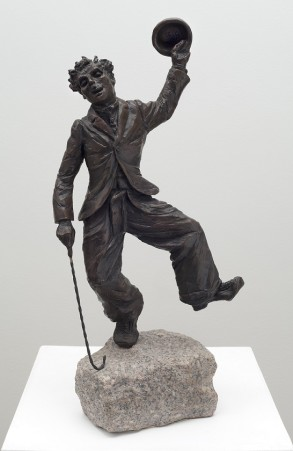 Charlie Chaplin (Bronze) 48cm x 20cm x 15cm