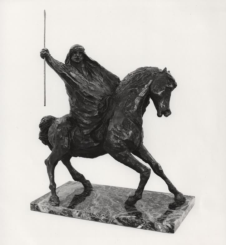 Desert Warrior (Bronze-Resin) 35cm x 30cm x 10cm