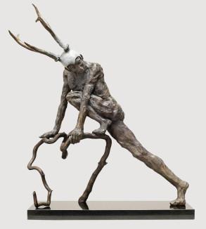 Faun (Bronze) W66cm x H51cm x D25cm copy