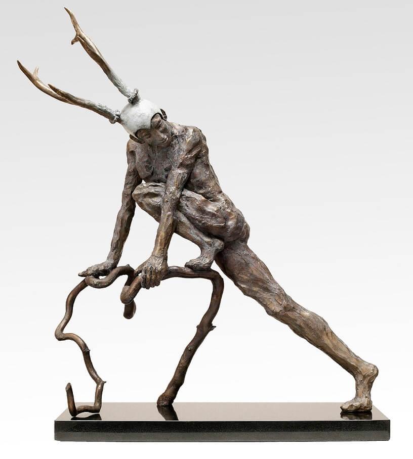 Faun (Bronze) W66cm x H51cm x D25cm