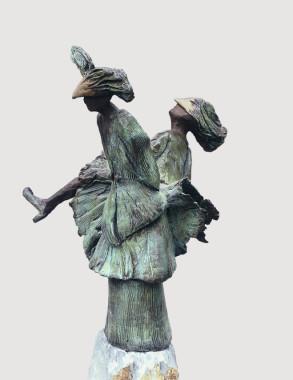 Gemini (Bronze) 27cm x 57cm x 28cm copy