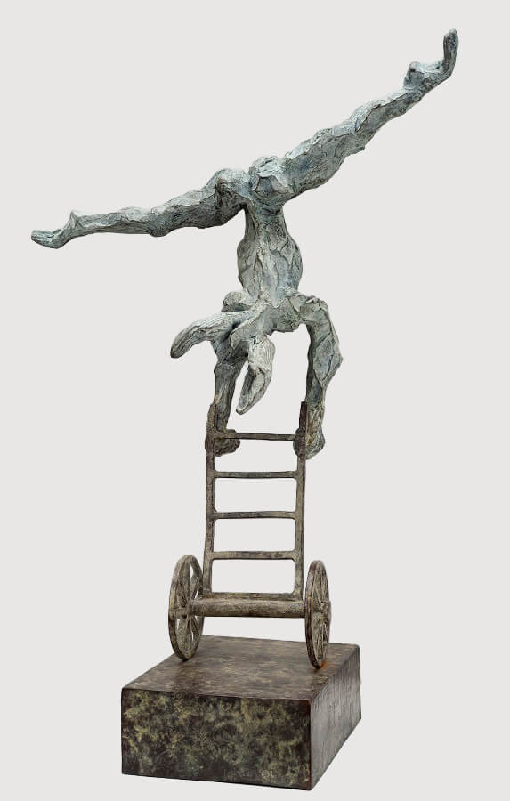 Gymnast (Bronze) W18cm x H56cm x D15cm copy