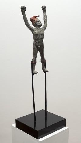 Harlequin on Stilts 73cm x 24cm x 21cm
