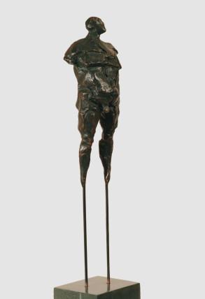 Man on Stilts (Bronze-Resin) 16cm x 160cm x 13cm