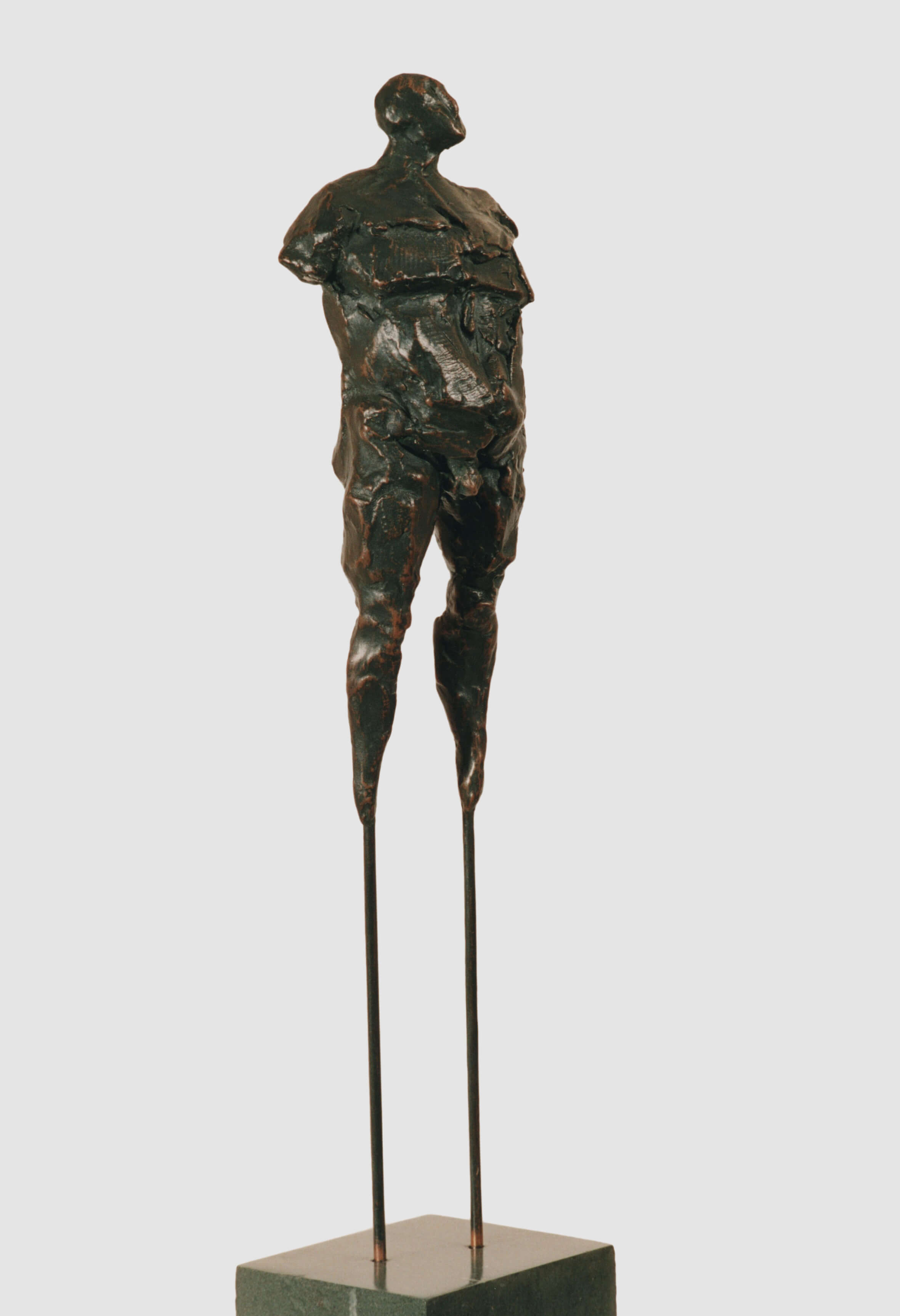 Man on Stilts (Bronze-Resin) 16cm x 160cm x 13cm