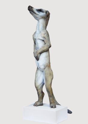 Meerkat (Bronze) W20cm x H68cm x D25cm