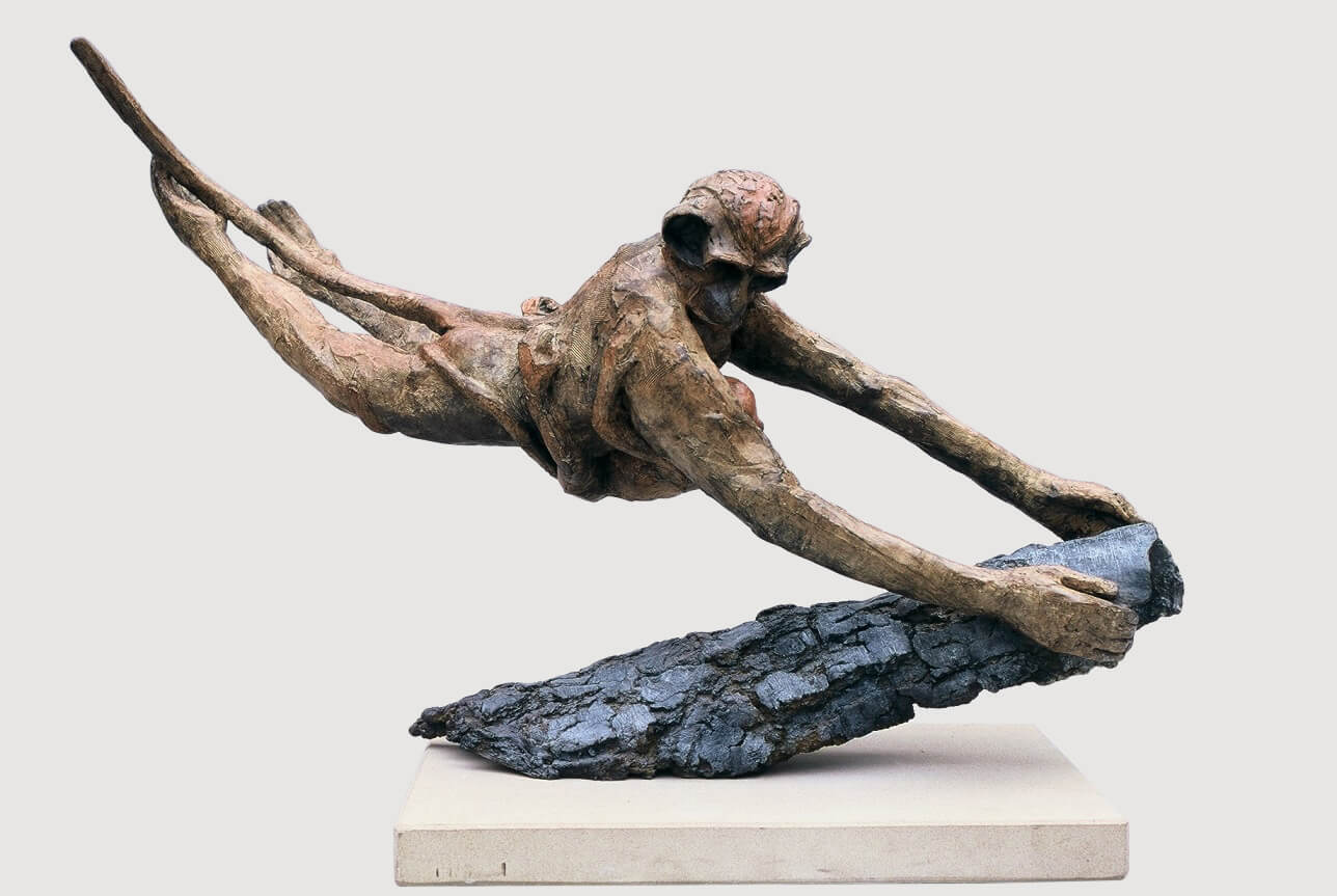 Monkey Landing (Bronze) 109cm x 76cm x 38cm copy