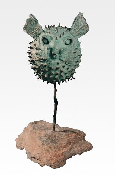 Puffer Fish (Bronze) 77cm x 50cm x 43cm