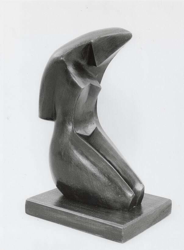 Seated Woman (Bronze-Resin) 24cm x 10cm x 14cm