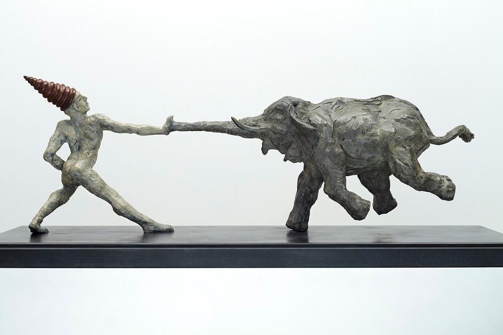 Serendipity (Bronze) 27cm x 89cm x 28cm