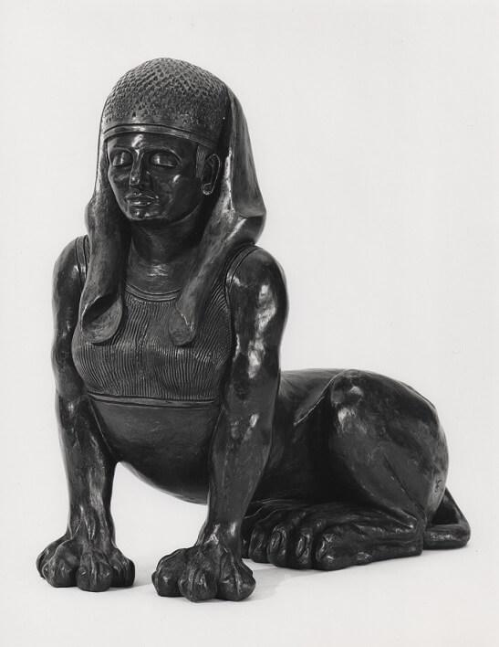 Sphinx (Bronze-Resin) 49cm x 45cm x 23cm