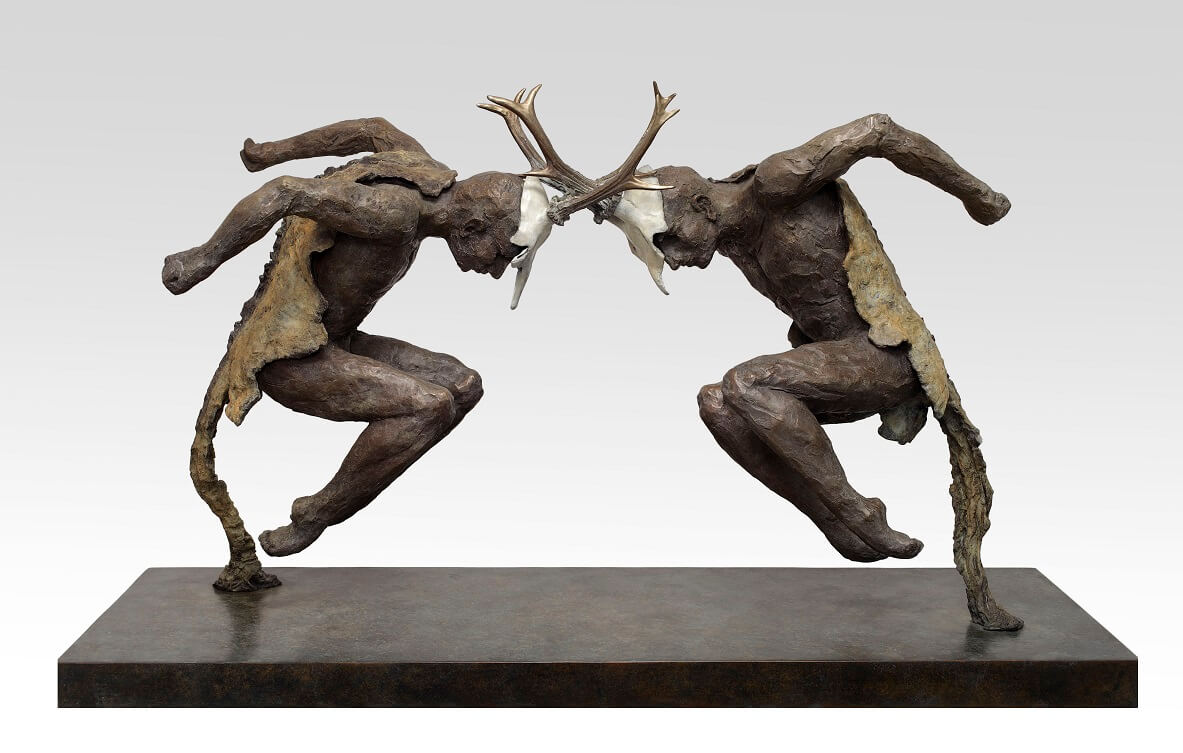 Stag Fight (Bronze) 145cm x 67cm x 40cm
