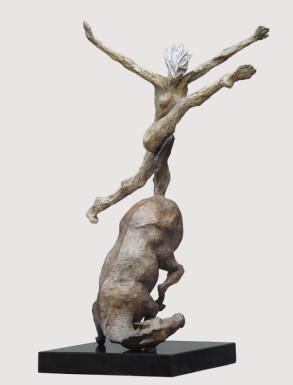 Steeplechase (Bronze) W50cm x H71cm x D30cm copy