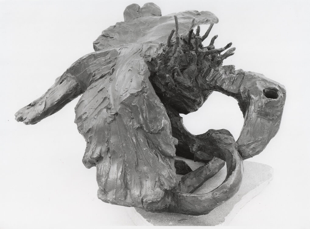 The Vulture And The Snake (Bronze-Resin) 29cm x 50cm 55cm