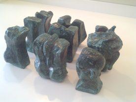Unison Two Bronze) W30cm x H18cm x D14cm
