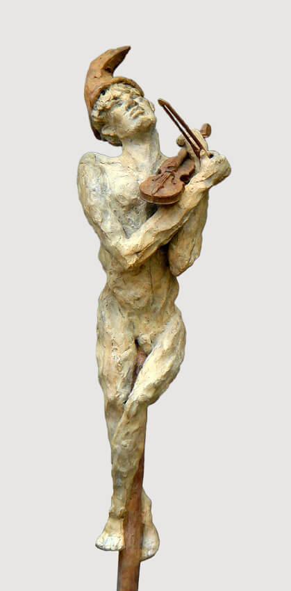 Violinist (Bronze) W15cm x H73cm x D15cm