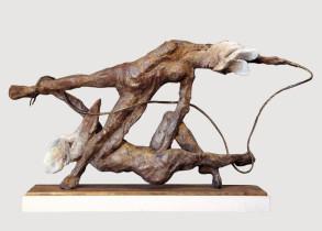 Entanglement  (Bronze) 12cm x 22cm x 5cm