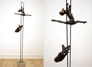 Acrobats - (Bronze-Resin) 70cm x 13cm x 16cm