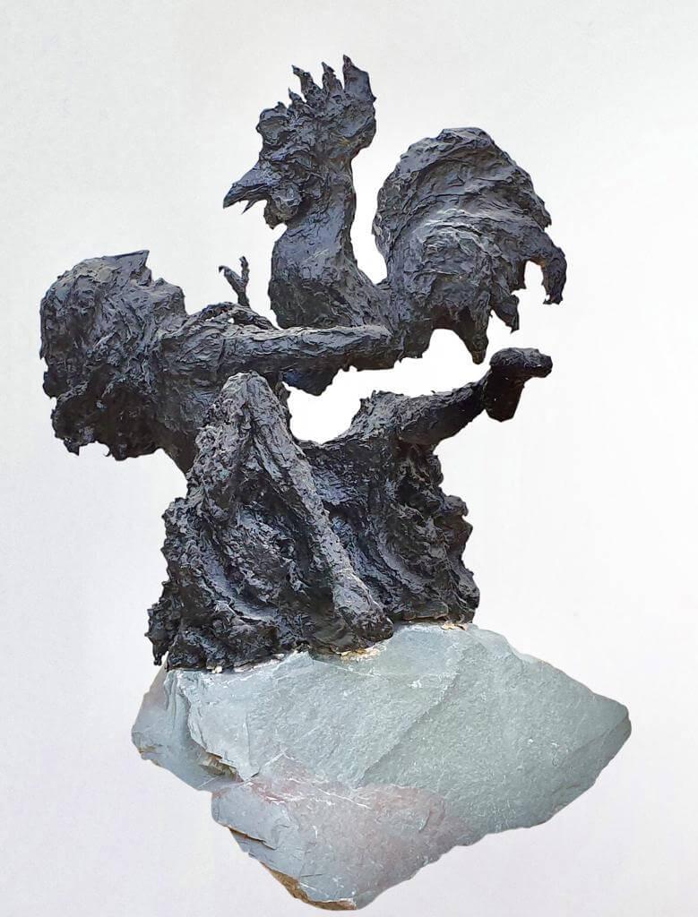 Alectryon & Aphrodite (H50cm-W45cm-D44cm)