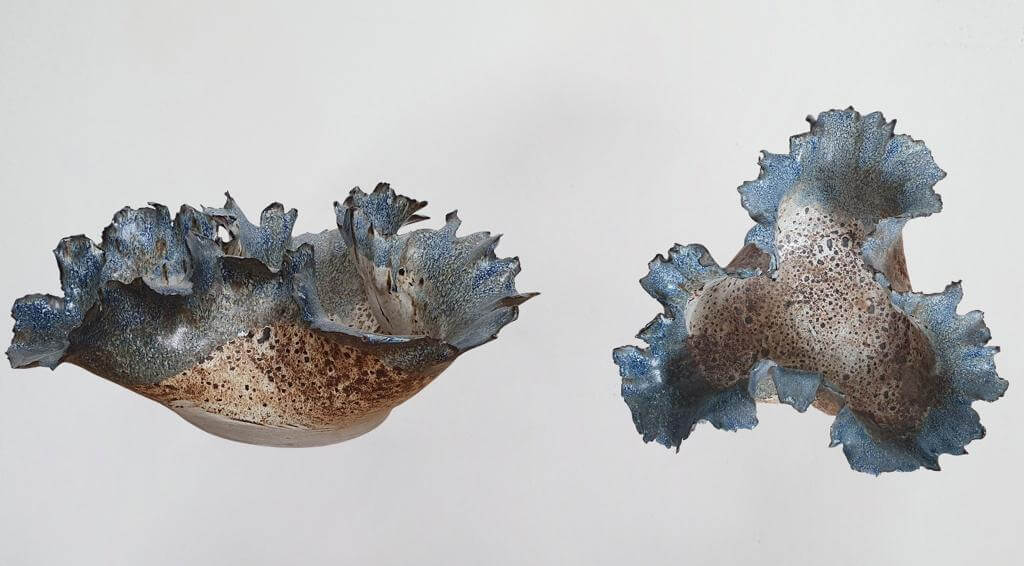 Flower Bowl -Ceramic (H16cm-W38cm-D35cm)