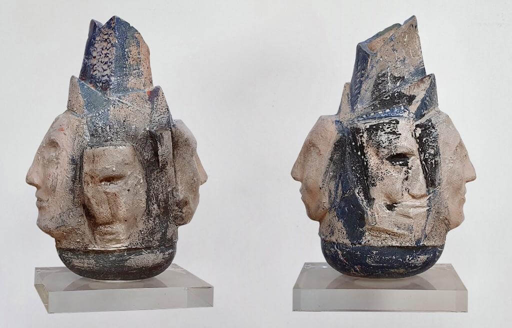 Multi-Faces Ceramic (H38cm-W16cm-D24cm)