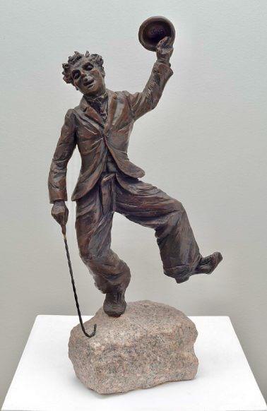 Charlie-Chaplin-Bronze-48cm-x-20cm-x-15cm