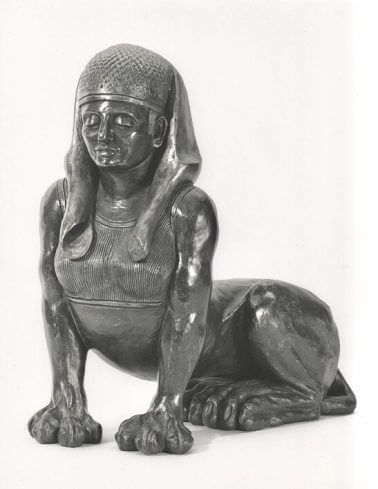 Sphinx-Bronze-Resin-49cm-x-45cm-x-23cm