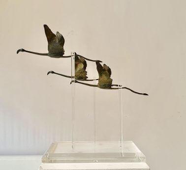 Flamingos (Bronze) 41cm x 42cm x 21cm