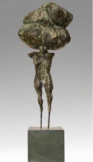 Migrant (Bronze) W21cm-x-H70cm-x-D18cm
