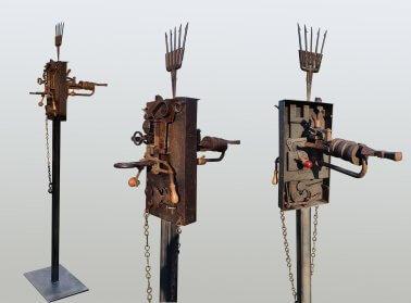 Warlock (Iron-Wood-Glass) H169cm x W39cm x D59cm